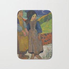 "Paul Gauguin ""Two Breton Girls by the Sea"" Bath Mat"