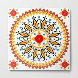 Mandala warm colour pallette Metal Print