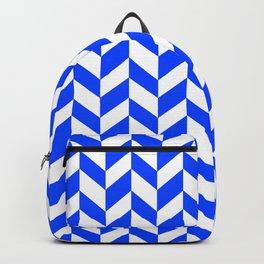 Herringbone Texture (Blue & White) Backpack