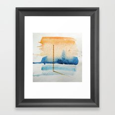 waxing crescent.two Framed Art Print