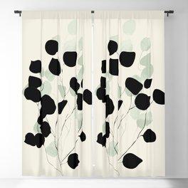 minimal leaves eucalyptus Blackout Curtain