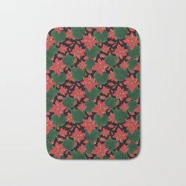 Poinsettia Party Bath Mat