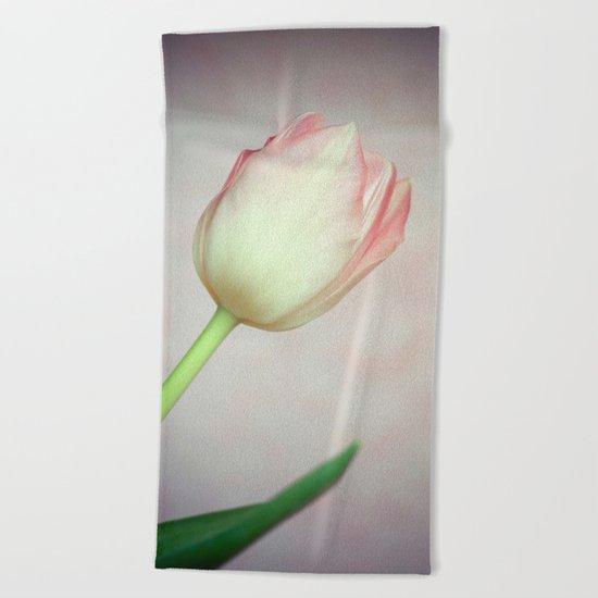 Lovely Tulip Beach Towel