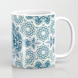 Creamy and blue mandala pattern#4 Coffee Mug