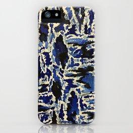 Black & Blue Water Color iPhone Case