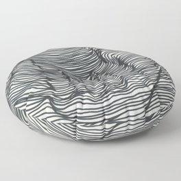 seismic waves Floor Pillow