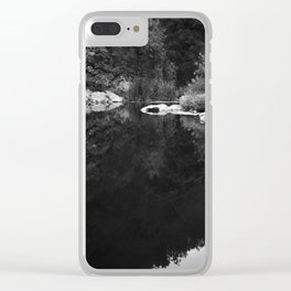 Shoreline Reflection On the Water Clear iPhone Case