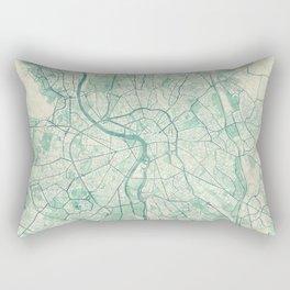 Toulouse Map Blue Vintage Rectangular Pillow