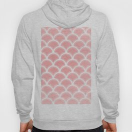 Abstract glowing rose quartz scallop pattern Hoody
