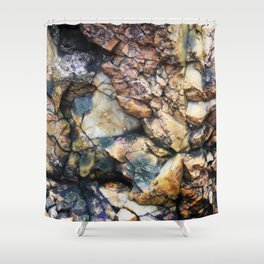 Jagged Rock Texture Shower Curtain