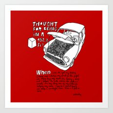 Mini Cooper Classic. Thought for being in a box 152 ft³. Art Print