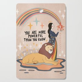 You are more powerful than you know Cutting Board