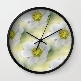 flowers -10- seamless pattern Wall Clock