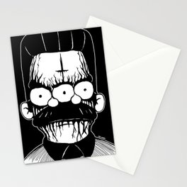 Black Metal Religious Guy Stationery Cards