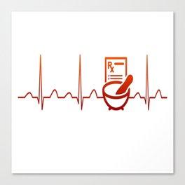 PHARMACIST HEARTBEAT Canvas Print