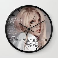 snk Wall Clocks featuring SnK Magazine: Hisotria by emametlo