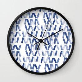 Blue chevron Wall Clock
