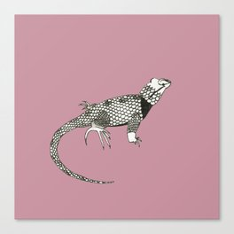 Black and White Lizard Canvas Print