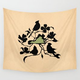Virginia - State Papercut Print Wall Tapestry