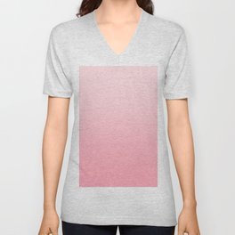 Pastel Pink to Pink Horizontal Linear Gradient Unisex V-Neck