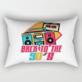 Back To The 90s Retro Nineties Rectangular Pillow