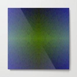 Black Blue Green Ombre Flames Horizon Metal Print