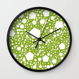 """Kalinka. """"Avocado green"""" color Wall Clock"""