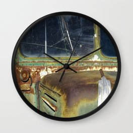 Vintage Ford Bus Abstraction Wall Clock