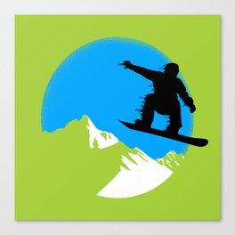 Snowboarding Canvas Print