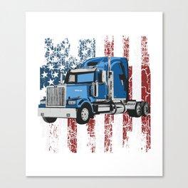 Truck Truck Trucker Truck Driver Truck Canvas Print