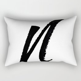 Letter N Ink Monogram Rectangular Pillow