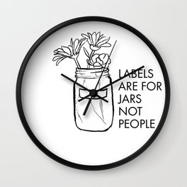 Labels are for Jars not People Wall Clock