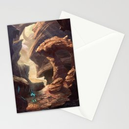 The land of magical flower | Fantasy Landscape Concept Art Stationery Cards