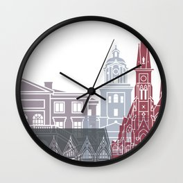 Gothenburg skyline poster Wall Clock