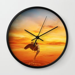 leaving your world Wall Clock