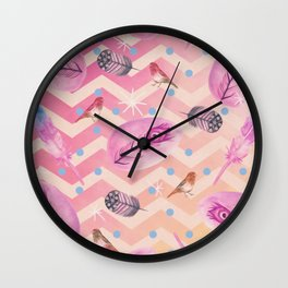 Feather Falls Wall Clock