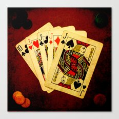 Poker de Jotas (Dirty Poker) Canvas Print