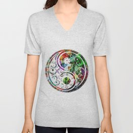Yin and Yang Balance Poster Print by Robert R Unisex V-Neck
