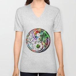 Yin and Yang Balance Poster Print by Robert R Unisex V-Neck