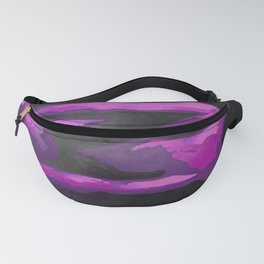 Beautiful Young Woman Wearing Plaits and Panties (Purple) Fanny Pack