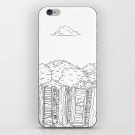 BigFoot Forest (Black and White) iPhone Skin