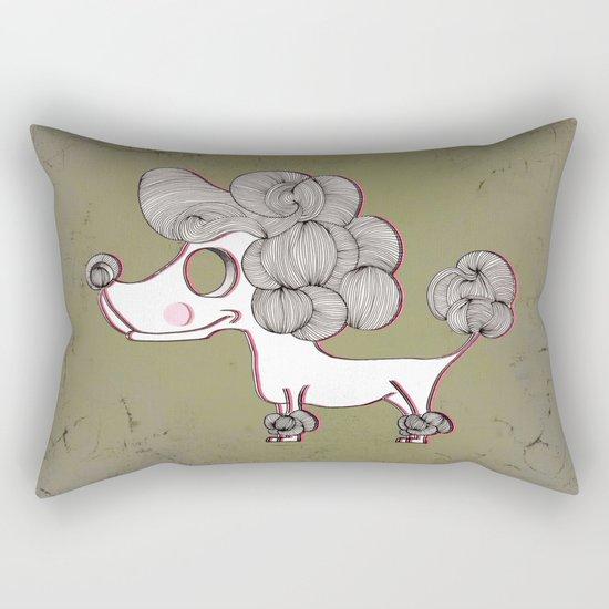 the city dog Rectangular Pillow
