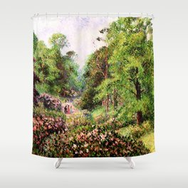"Camille Pissarro ""Kew Gardens, Alley of Rhododendrons"" Shower Curtain"