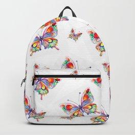 Butterflies abstract print Backpack