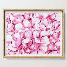 Blooming hydrangea Serving Tray