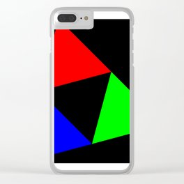Triangles in a Square Clear iPhone Case
