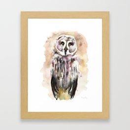 Gary The Great Gray Owl Framed Art Print
