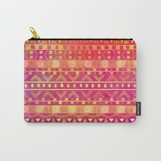 Inspired Aztec Pattern Carry-All Pouch