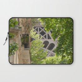 Eiffel tower in the street Laptop Sleeve