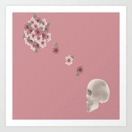 Flourish print pink Art Print